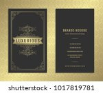 luxury business card and golden ... | Shutterstock .eps vector #1017819781