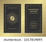 luxury business card and golden ... | Shutterstock .eps vector #1017819895