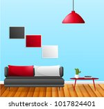 living room with furniture.... | Shutterstock .eps vector #1017824401