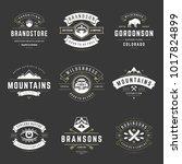 camping logos templates vector... | Shutterstock .eps vector #1017824899