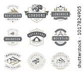 camping logos templates vector... | Shutterstock .eps vector #1017824905