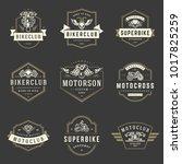 motorcycles logos templates... | Shutterstock .eps vector #1017825259