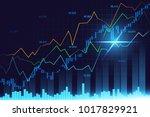 stock market or forex trading... | Shutterstock . vector #1017829921