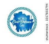 world civil defence day | Shutterstock .eps vector #1017833794