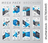 blue color mega pack brochure...   Shutterstock .eps vector #1017834445