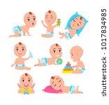 babys activities collection ...   Shutterstock .eps vector #1017834985