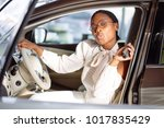 african american woman with her ... | Shutterstock . vector #1017835429