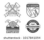 vintage monotone woodwork...   Shutterstock .eps vector #1017841054
