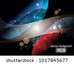 abstract light vector background | Shutterstock .eps vector #1017845677