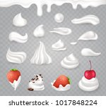 tasty whipped cream with sweet... | Shutterstock .eps vector #1017848224