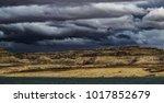 lone rock beach lake powell in... | Shutterstock . vector #1017852679