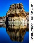 lone rock beach lake powell in... | Shutterstock . vector #1017852685