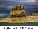 lone rock beach lake powell in... | Shutterstock . vector #1017852691