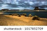 lone rock beach lake powell in... | Shutterstock . vector #1017852709