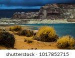 lone rock beach lake powell in... | Shutterstock . vector #1017852715