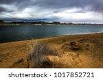 lone rock beach lake powell in... | Shutterstock . vector #1017852721