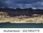 lone rock beach lake powell in... | Shutterstock . vector #1017852775