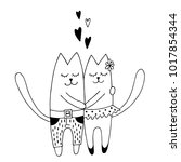 Couple Of Funny Cats In Love...