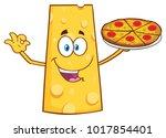 cheese cartoon mascot character ... | Shutterstock . vector #1017854401