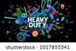colorful attractive 3d rendered ... | Shutterstock . vector #1017855541