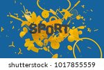 attractive 3d composition with... | Shutterstock . vector #1017855559