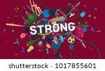 motivation card for social... | Shutterstock . vector #1017855601