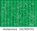 coaching board for game tactics ...   Shutterstock .eps vector #1017859741