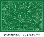 coaching board for game tactics ... | Shutterstock .eps vector #1017859744