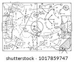 coaching board for game tactics ... | Shutterstock .eps vector #1017859747