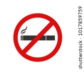 vector no smoking icons set on... | Shutterstock .eps vector #1017859759