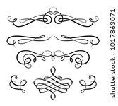 vintage calligraphic vignette... | Shutterstock .eps vector #1017863071