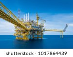 offshore oil and gas production ...   Shutterstock . vector #1017864439