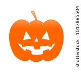 classic halloween evil jack o... | Shutterstock .eps vector #1017865504