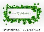 happy saint patrick's day... | Shutterstock .eps vector #1017867115