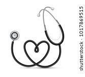 realistic stethoscope with... | Shutterstock .eps vector #1017869515
