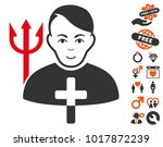 satan priest pictograph with... | Shutterstock .eps vector #1017872239