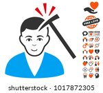 murder with hammer pictograph... | Shutterstock .eps vector #1017872305