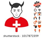 satan priest pictograph with... | Shutterstock .eps vector #1017872359