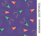 hand drawn seamless vector... | Shutterstock .eps vector #1017874921