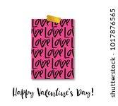 happy valentine's day ... | Shutterstock .eps vector #1017876565