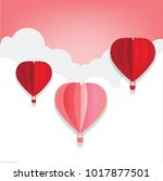valentines day   hot air... | Shutterstock .eps vector #1017877501