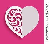 cutout paper heart silhouette...   Shutterstock .eps vector #1017877765