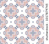 blue and orange ornamental... | Shutterstock .eps vector #1017879745