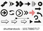 arrows vector collection black. ... | Shutterstock .eps vector #1017880717