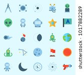 icons about universe with star  ... | Shutterstock .eps vector #1017882289