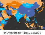 colorful political map of... | Shutterstock .eps vector #1017886039