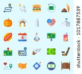 icons about united states with... | Shutterstock .eps vector #1017887539