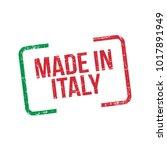 made in italy. vector flag... | Shutterstock .eps vector #1017891949