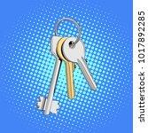three keys in single bunch....   Shutterstock .eps vector #1017892285