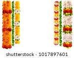 flower garland rose and leaves...   Shutterstock .eps vector #1017897601